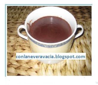 CHOCOLTE A LA TAZA Y COCA DE PAN DULCE