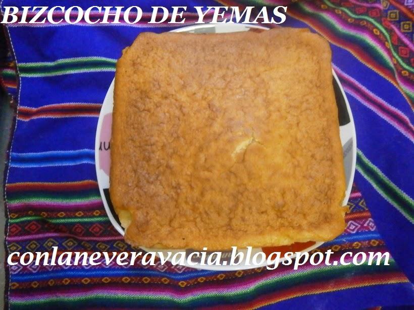 BIZCOCHO DE YEMAS